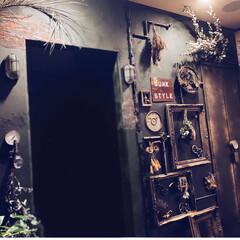 壁飾り/壁リフォーム/ドライフラワー/スチームパンク/スチパン/令和の一枚/... 久々にDIY? スチームパンク🛠インダス…