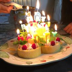 スイーツ/おうちごはん/100均/セリア/ダイソー/住まい/... 10歳の息子の誕生日に作ったバースデーケ…
