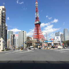 東京タワー/おでかけ 綺麗な空と東京タワー