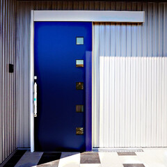 ポーチタイル/アート/デザイン/玄関ポーチ/ポーチ/タイル床 玄関ポーチタイルは2色使いとし、 事前…