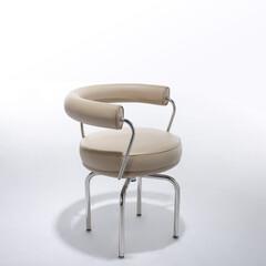 ダイニングチェア/コルビジェ/回転椅子 ■LC7 スウィベルチェア 品番: CH…