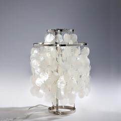 ランプ/北欧家具/パントン/天然貝/シェルランプ ■ファン シェル テーブルランプ 品番:…