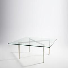 バウハウス/ミース/強化ガラス/ローテーブル ■バルセロナコーヒーテーブル 品番: C…