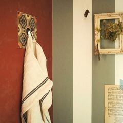decolfa/大人派手インテリア/ニトムズ/DIY/DIY女子/簡単DIY/... 壁に穴があけられない賃貸でも、オシャレに…