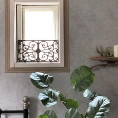 デコルファ/decolfa/リノベーション/簡単DIY/DIY/セルフリノベーション/... 窓枠の縁もマスキングテープでデコレーショ…
