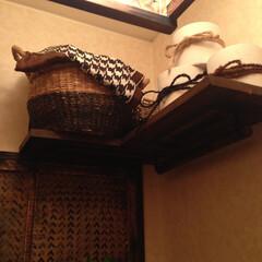 diy201604/トイレットペーパー/収納 トイレタンク上にトイレットペーパー、サニ…