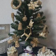 雪だるま/クリスマスツリー/雑貨/インテリア/クリスマス 電子ピアノの上に置いてみました✨  雪だ…