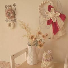マクラメ編みしめ縄/お正月アレンジ/お正月2020/住まい/暮らし TAKAさんのマクラメ編みのしめ縄です✨…