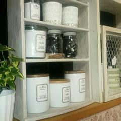 スパイスラック/キッチンカウンター/キッチン 29年前に購入した茶色のスパイスラック。…