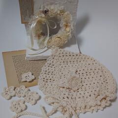あやさんのホワイトリース/かぎ針編みの小物のモチーフ/かぎ針編みの小物/かぎ針編み/ホワイトインテリアが好き/手芸/... 今朝も薄曇りの朝のです🌥️ 秋晴れが恋し…