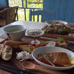 lunch/Cafe/おでかけ 山奥で海にも近い可愛いcafeです☕️✨