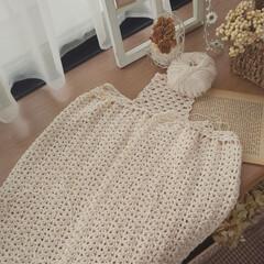 出窓のある暮らし/かぎ針編み/インテリア 編み編み途中経過✨
