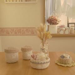 かぎ針編みの小物/出窓のある暮らし/雑貨/住まい/暮らし/ここが好き かぎ針編みの小物たち・*:.。.・*:.…