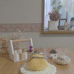 かぎ針編み/かぎ針編みの小物/かぎ針編みのがま口/雑貨/ハンドメイド/住まい/... かぎ針編みのがま口を作りました😊💕  ピ…