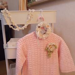 ベビー用ワンピース/かぎ針編み/母の手作り/お気に入り/ハンドメイド/インテリア/... 私の母が五十数年前に編んだ(苦笑) かぎ…