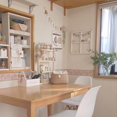 キッチンカウンター/ダイニング/収納/雑貨/インテリア/ハンドメイド 雑貨の多い我が家ですが 色味をおさえるよ…