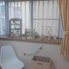 ナチュラルインテリアが好き/朝の作業部屋/出窓のある暮らし/断捨離/インテリア 娘が使っていた部屋を私の作業部屋に改造中…