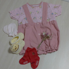 手作りのベビー服/捨てられない/ハンドメイド 29年前に娘に作ったベビー服👶です💦  …