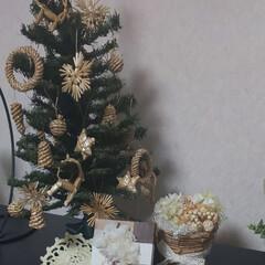 moccaさん/ナチュラルインテリア/ナチュラルクリスマス/クリスマス/クリスマスツリー/ハンドメイド/... moccaさんの木のキーフックです😊  …(1枚目)