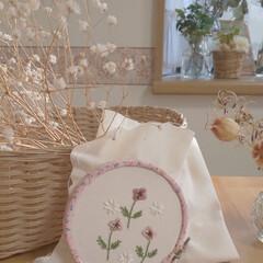 ポピー/フーセンポピー/刺繍日和/刺繍グッズ/雑貨/インテリア/... kanaeembroideryさんの図案…