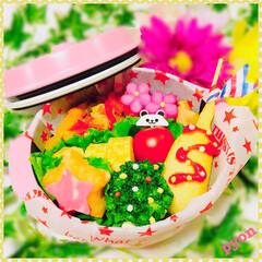 デコ弁/キャラ弁/娘弁当/お弁当 娘ちゃん達のお弁当♡(❊´︶`❊)