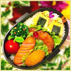 キャラ弁/デコ弁/娘弁当/お弁当 娘ちゃん達のお弁当♡(❊´︶`❊)