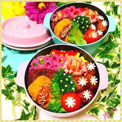 娘弁当/お弁当 娘ちゃん達のお弁当♡(❊´︶`❊)。۞·
