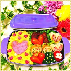 バレンタイン弁当/愛妻弁当/お弁当/バレンタイン パパちゃんのバレンタイン弁当💕