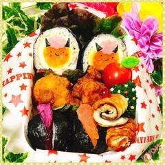 今日のお弁当/お弁当/娘弁当/節分 中1娘のお弁当♡(❊´︶`❊)。۞·: …