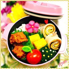 ランチ/娘弁当/お弁当/フード 中1娘のお弁当♡(❊´︶`❊)。۞·: