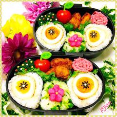 フォトコンテスト/娘弁当/お弁当 娘ちゃん達のお弁当♡(❊´︶`❊)。