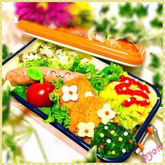 デコ弁/娘弁当/お弁当 娘ちゃん達のお弁当♡(❊´︶`❊)。۞·: