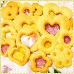 クッキー/ステンドグラスクッキー/おやつ 初ステンドグラスクッキー♡(❊´︶`❊)…