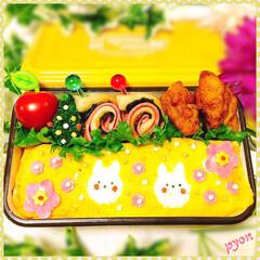 お弁当/娘弁当/デコ弁/キャラ弁 中2娘ちゃんのお弁当♡(❊´︶`❊)