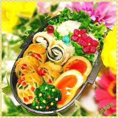 中学生弁当/娘弁当/お弁当 中1娘ちゃんのお弁当♡(❊´︶`❊)。۞·
