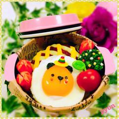 キャラ弁/デコ弁/娘弁当/お弁当 中2娘ちゃんのお弁当♡(❊´︶`❊)。۞…