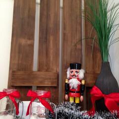 クリスマス飾り/すのこ/クリスマスデコレーション/クリスマス/DIY 背景にある板状のものの素材は実はウレタン…