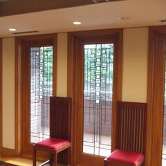 木製サッシ/アートガラス/フランクロイドライト/窓/住まい/海外 米国窓メーカー「アンダーセン」のフランク…