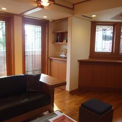 木製サッシ/アートガラス/窓/海外/フランクロイドライト/住まい 米国窓メーカー「アンダーセン」のフランク…
