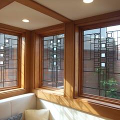木製サッシ/アートガラス/住まい/ヌック/窓/新築 米国窓メーカー「アンダーセン」のフランク…