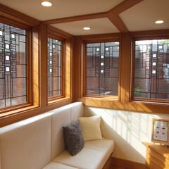 木製サッシ/アートガラス/ヌック/窓/住まい/新築 米国窓メーカー「アンダーセン」のフランク…