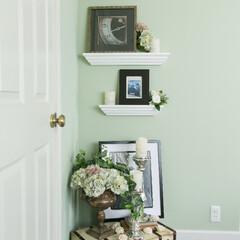 壁掛け棚/モールディング/小物/棚/収納棚/見せる収納/... 天井と壁の間や窓廻りを縁取り、住まいの中…(1枚目)