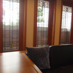 木製サッシ/アートガラス/窓/フランクロイドライト/新築/住まい 米国窓メーカー「アンダーセン」のフランク…