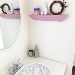 壁掛け棚/洗面所/収納/モールディング モールディングで作った壁掛けシェルフ「M…