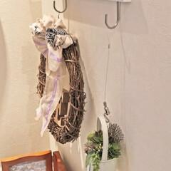 ピクチャーレール/小物飾り/リース/壁飾り/グリーン/ウォールデコ/... 絵や写真を吊るして飾るピクチャーレール。…