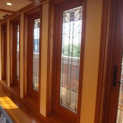 木製サッシ/アートガラス/海外/新築/フランクロイドライト/窓 米国窓メーカー「アンダーセン」のフランク…