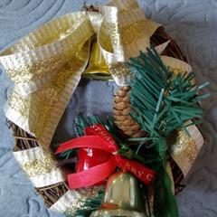 クリスマス/クリスマスツリー/ハンドメイド/雑貨/100均/ダイソー/... 前からあったリースを リメイクしてみまし…(3枚目)
