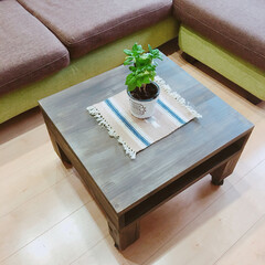 ローテーブル/DIY/インテリア/家具/住まい/ハンドメイド キャスター付きのローテーブルを作成しまし…