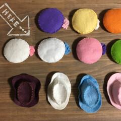 ハット/ベレー帽/リカちゃん/ハンドメイド イベント用 リカちゃんのベレー帽とハット…