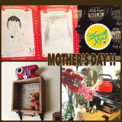 クマさん/カーネーション/似顔絵/キッチン雑貨/母の日/雑貨/... ちょっと早すぎるけど、先週末に 子供たち…
